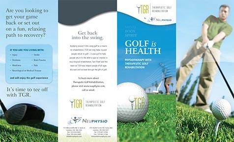 Therapeutic Golf Rehabilitation Brochure